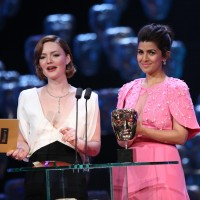 Holliday Grainger and Nimrat Kaur present the award for Original Music Documentary