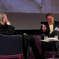 Matthew Sweet talks with Screenwriter Christopher Hampton. (Photography: Jay Brooks)