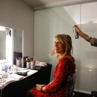 BAFTA Chair Jane Lush getting ready