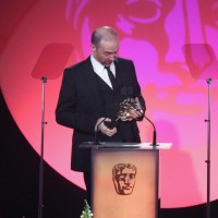 Jake Martin accepts the award for Editing: Factual at the British Academy Television Craft Awards in 2015