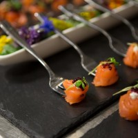 Canapés created by BAFTA 195's Head Chef Anton Manganaro