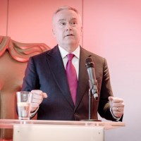 Broadcaster Huw Edwards.