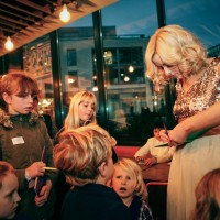 Katie Thistleton meets her fans