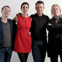 Four of the six screenwriters from the series attended the Peter Morgan lecture at BAFTA Headquarters including (from left to right) Simon Beaufoy, Aline Brosh Mckenna, Peter Morgan and Christopher Hampton (Photography: Jonny Birch).