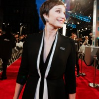 Kristin Scott Thomas on the red carpet