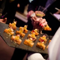 Enjoy canapés created by our in-house kitchen team