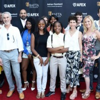 BAFTA LA CEO Chantal Rickards (L) with guests