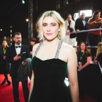 Greta Gerwig on the red carpet