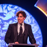 Presenter Stephen Mangan takes to the stage