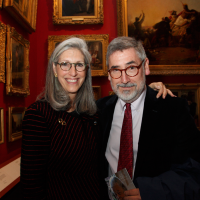 Deborah and John Landis at the reception.
