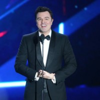Actor and comedian Seth MacFarlane introduced Amy Schumer, recipient of the Charlie Chaplin Britannia Award for Excellence in Comedy sponsored by Kodak.