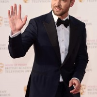 Justin Timberlake waves to the crowds