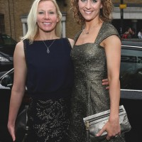 Amy Williams and Bex Bridgford walk the red carpet at the British Academy Games Awards