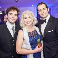 Sam Claflin and Henry Cavill with Anne Morrison, BAFTA Chair