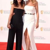 Claudia Winkleman and Tess Daly pose together