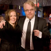 Philip Seymour Hoffman arrives at the British Academy Film Awards in 2006.