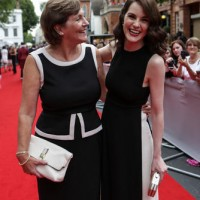 Michelle Dockery brought her mother on to the red carpet at the BAFTA Downton Abbey Tribute event.