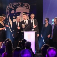 The Lumino City team accept the award for Artistic Achievement at the British Academy Games Awards Ceremony in 2015