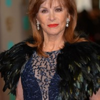 Stephanie Powers arrives on the red carpet
