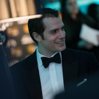 Henry Cavill sits down to dinner