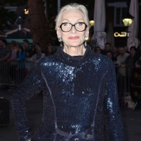 Legendary actress Sian Phillips arrives on the red carpet