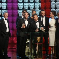 Ant and Dec's Saturday Night Takeaway production Team accept the award for Entertainment Programme
