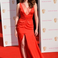Charlotte Spencer strikes a pose at Theatre Royal's red carpet. Dress by House of Fraser