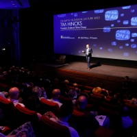 Tim Hincks delivers his lecture to an audience at BAFTA 195 Piccadilly