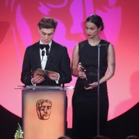 Heida Reed and Jack Farthing present the awards for Editing: Factual and Editing: Fiction at the British Academy Television Craft Awards in 2015
