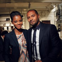 Breakthrough actress Letitia Wright with actor Noel Clarke