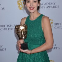 Jessica Ransom wins the Performer category at the British Academy Children's Awards in 2015, presented by Mark Little.