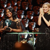 Octavia Spencer and Margot Robbie present the EE Rising Star