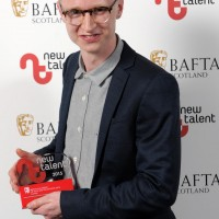 Lewis Bolton with his award for Animation for 'Domestic Appliances.'