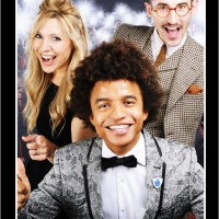 The presenters pose in the Boothnation photo booth
