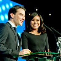 Kevin Guthrie and Katie Leung
