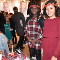 Trying on garlands at the BAFTA Kids Red Carpet Experience