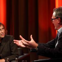 Peter Bennett-Jones in conversation with TV journalist Kirsty Wark. (Picture: BAFTA / J. Simonds)