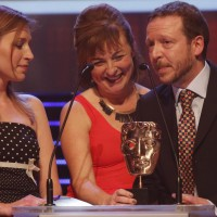 Dixi collects the BAFTA for Interactive - Original at the British Academy Children's Awards in 2014