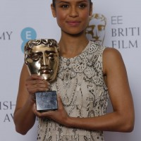 Gugu Mbatha-Raw at the nominations press conference for the EE British Academy Film Awards 2016