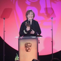 Phoebe De Gaye accepts the award for Costume Design at the British Academy Television Craft Awards in 2015