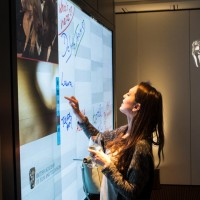 Use our interactive Prysm screen to screen a film or give dynamic presentations