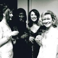 Sian Lloyd and guest, Claire Sweeney and Sue Jenkins at the 1997 BAFTA Cymru Awards.