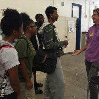 Director & Producer Bruce Hendricks leads a class at George Washington Preparatory High School