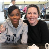 Olivia Colman with Breakthrough Brit Letitia Wright