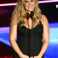 Amy Schumer accepts the Charlie Chaplin Britannia Award for Excellence in Comedy sponsored by Kodak.