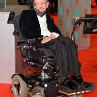 Stephen Hawking arrives on the red carpet