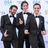 Filmmakers Louis Cavalier, Camille Jalabert and Oscar Malet