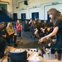 Sharon O'Brien presented a hair and makeup masterclass to students at The Swinton High School in Manchester.