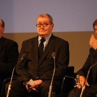 """Tony Warren explains that Coronation Street was his way of preserving the characters and scenes of his childhood """"like flies in amber"""". Pic: BAFTA/ Steve Butler"""