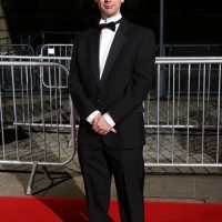 Martin Hollis arrives on the red carpet
